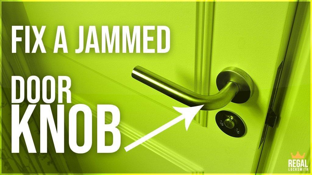 Door Knob Turns But Won't Open - How To Fix A Jammed Door ...